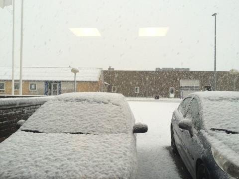 Snevejr i Støvring