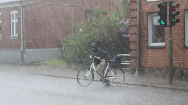 Kraftig regn og skybrud ramte danmark i går foto jakob albøge