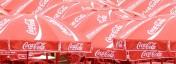 Det ses tydeligt, at Coca Cola er en af de officielle sponsorer til OL i Beijing