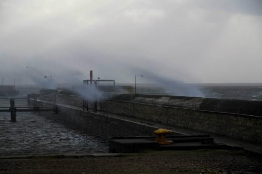 Stormen Egon på Esbjerg havn